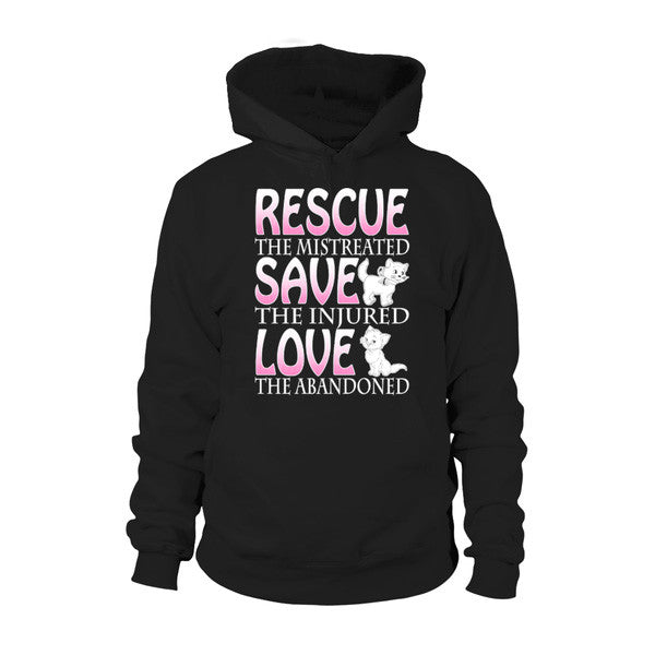 Cat - RESCUE, SAVE, LOVE -Unisex Hoodie  - SSID2016
