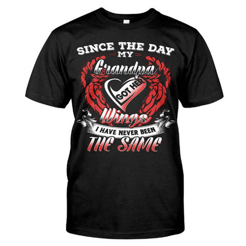 Family Shirt - Since the day my grandpa got his wings -Men Short Sleeve T Shirt - SSID2016