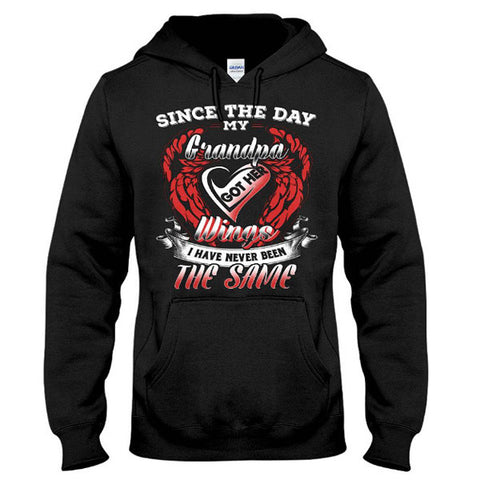 Family Shirt - Since the day my grandpa got his wings - Unisex Hoodie  - SSID2016