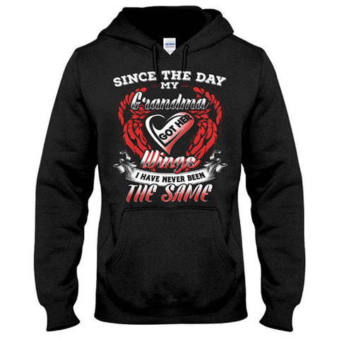 Family Shirt - Since the day my grandma got her wings - Unisex Hoodie  - SSID2016