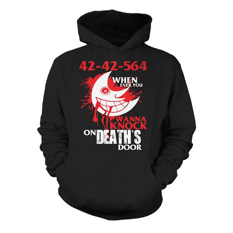 Soul Eater - 42 42 564 when ever you wanna knock on deaths door -Unisex Hoodie  - SSID2016