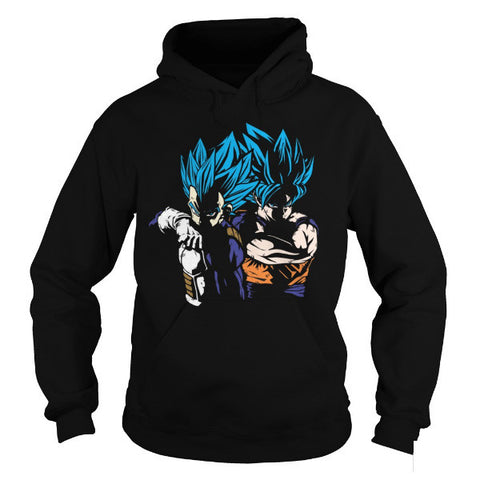 Super Saiyan - RIVALS OR VEGETA AND GOKU -Unisex Hoodie  - SSID2016