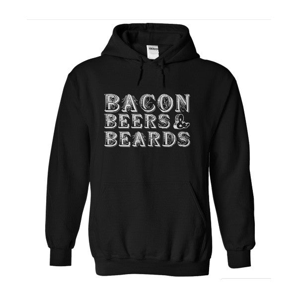 Beards - bacon beer and beard -Unisex Hoodie  - SSID2016