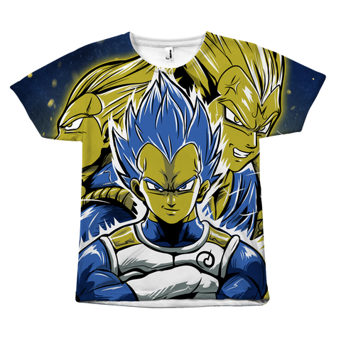 Super Saiyan - Vegeta SSJ Blue - All Over Print T Shirt - TL01158AO
