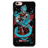 Super Saiyan Goku God Blue with shenron iPhone 5, 5s, 6, 6s, 6 plus, 6s plus phone case -TL00245PC-BLACK