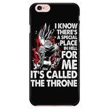 Super Saiyan Majin Vegeta Throne iPhone 5, 5s, 6, 6s, 6 plus, 6s plus phone case - TL00213PC-BLACK