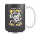 Super Saiyan I May Live in Iowa 15oz Coffee Mug - TL00090M5