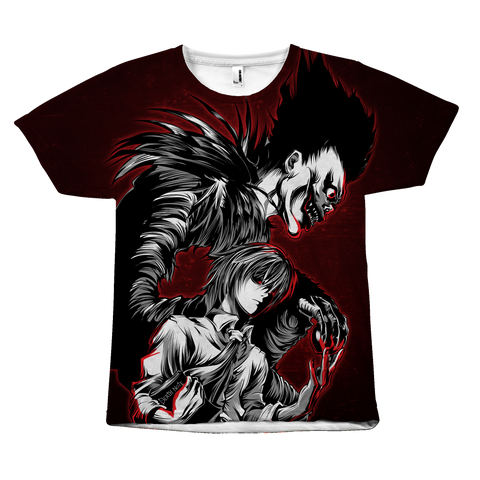 Death Note - Kira and Ryuk - All Over Print T Shirt - TL00910AO - The TShirt Collection
