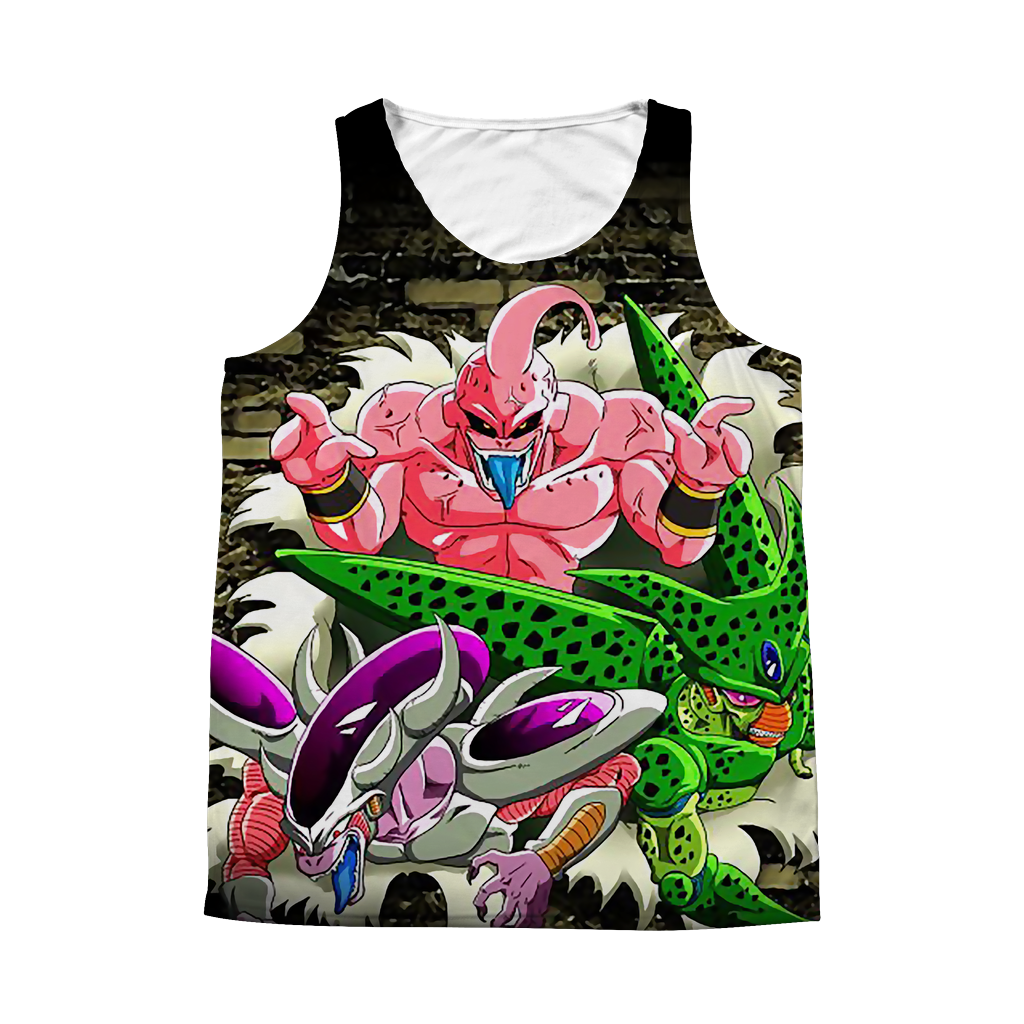 Super Saiyan Buu Frieza Cell 1 Sided 3D tank top t shirt Tank - TL00376AT