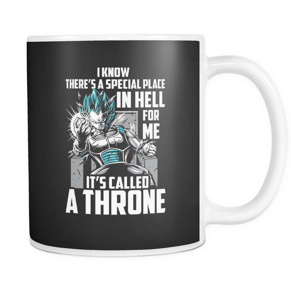 Super Saiyan Vegeta God Blue Stay on throne 11oz Coffee Mug - TL00238M1