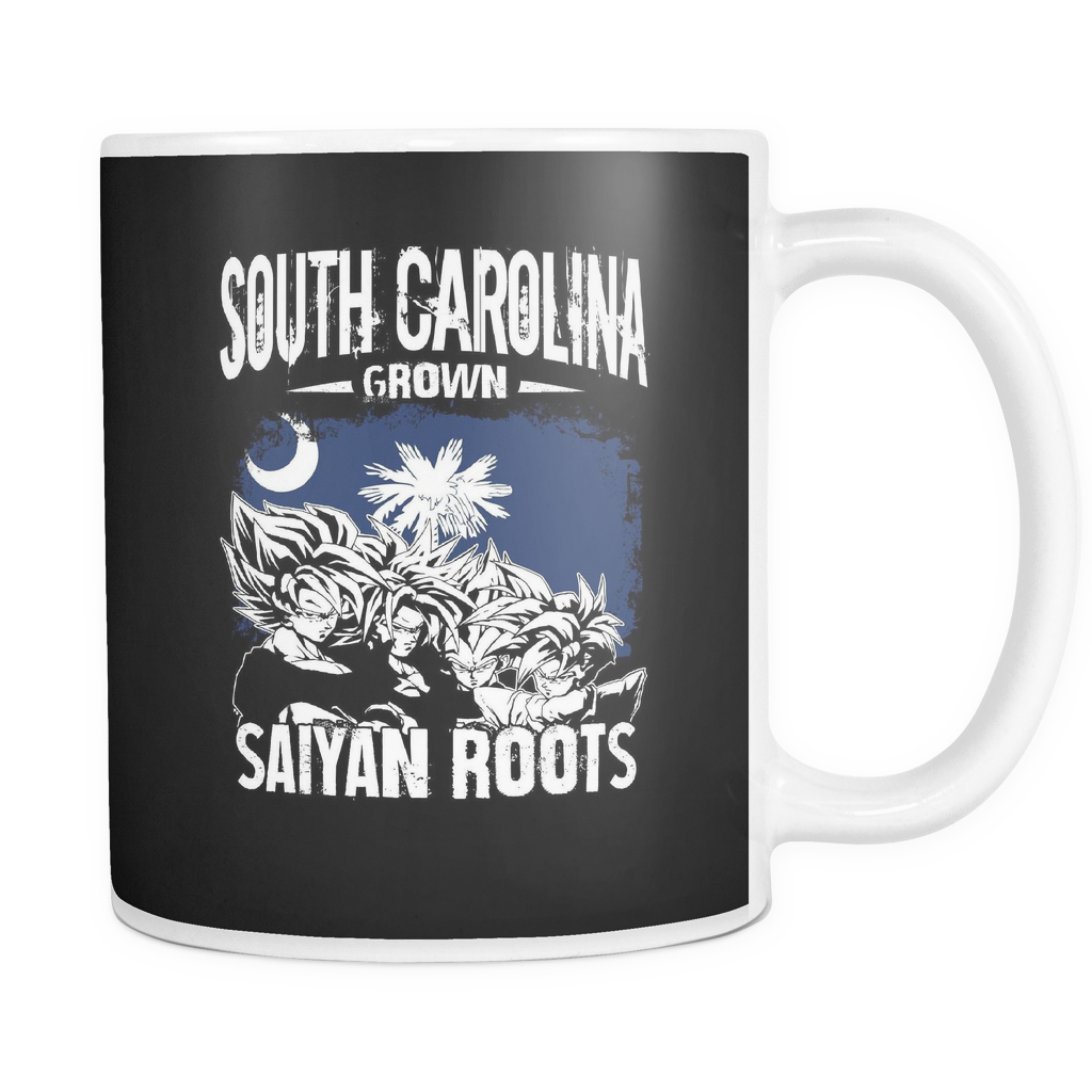 Super Saiyan South Carolina Grown Saiyan Roots 11oz Coffee Mug - TL00154M1