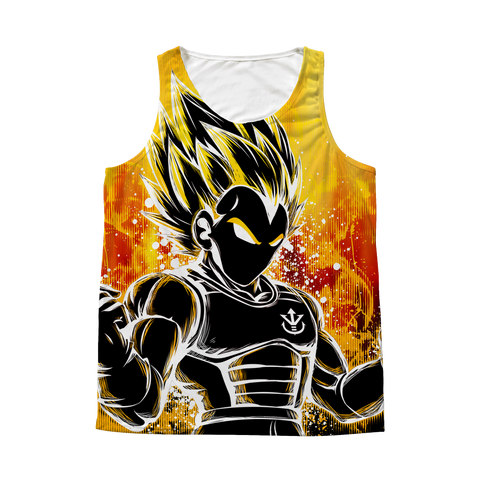 Super Saiyan - Super Saiyan Vegeta - 1 Sided 3D tank top t shirt Tank - TL00956AT