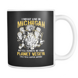 Super Saiyan I May Live in Michigan 11oz Coffee Mug - TL00067M1