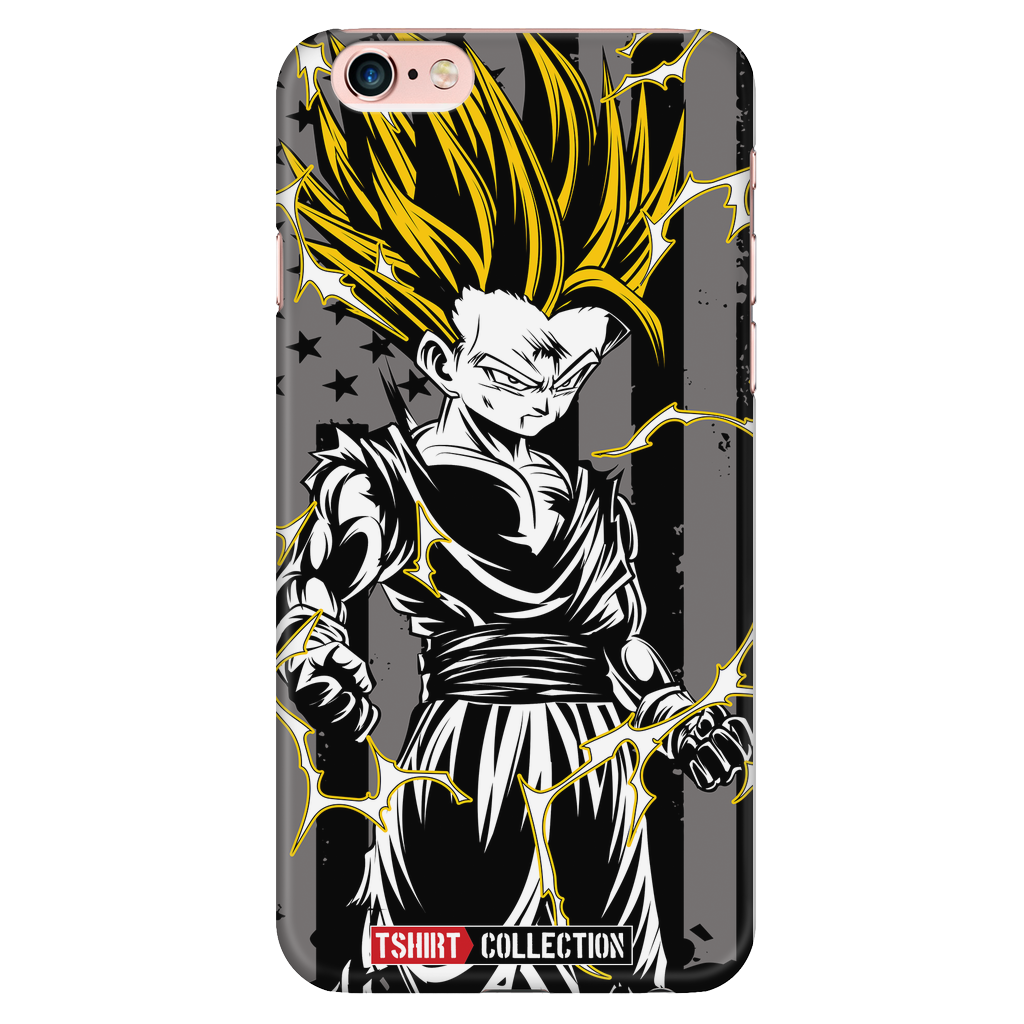 Super Saiyan American Gohan iPhone 6/6s 6/6s plus Phone Case - PF00003PC-BLACK