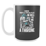 Super Saiyan Vegeta God Blue Stay on throne 15oz Coffee Mug - TL00237M5
