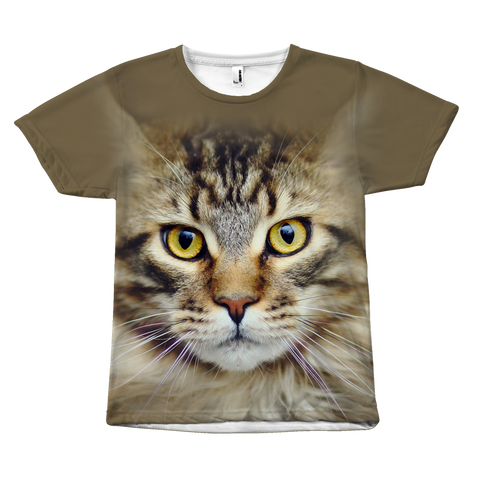 Pet - Maine Coon Cat Face - All Over Print T Shirt