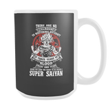 Super Saiyan GOKU TRAINING TO GET YOUR TITLE 15oz Coffee Mug - TL00045M5