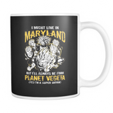 Super Saiyan I May Live in Maryland 11oz Coffee Mug - TL00089M1