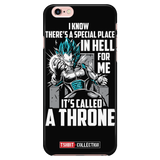 Super Saiyan Vegeta God Blue stay on throne iPhone 5, 5s, 6, 6s, 6 plus, 6s plus phone case - TL00237PC-BLACK