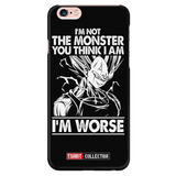 Super Saiyan Majin Vegeta I'm Not Monster iPhone 5, 5s, 6, 6s, 6 plus, 6s plus phone case -TL00051PC-BLACK