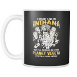 Super Saiyan I May Live in Indiana 11oz Coffee Mug - TL00068M1