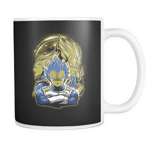 Super Saiyan - Vegeta SSJ Blue - 11oz Coffee Mug - TL01159M1