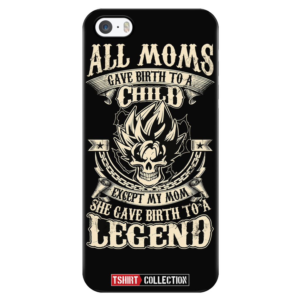 Super Saiyan Goku Mom iPhone 5, 5s, 6, 6s, 6 plus, 6s plus phone case - TL00033PC-BLACK