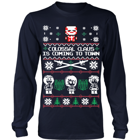 Attack on titan - Titan Ugly Christmas - Unisex Long Sleeve T Shirt - TL01493LS