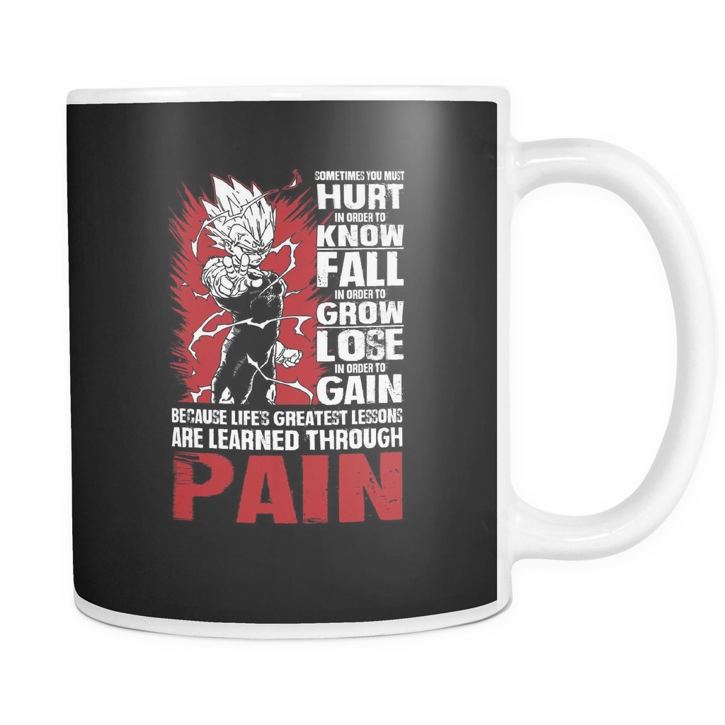 Super Saiyan Majin Vegeta LESSONS FROM PAIN 11oz Coffee Mug - TL00059M1