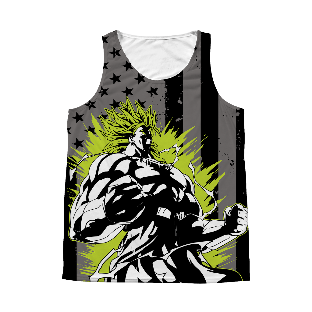 Super Saiyan Broly 1 Sided 3D tank top t shirt Tank - TL00415AT
