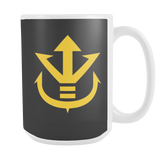 Super Saiyan Yellow Vegeta Saiyan Crest 15oz Coffee Mug - TL00014M5