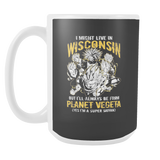 Super Saiyan I May Live in Wisconsin 15oz Coffee Mug - TL00076M5