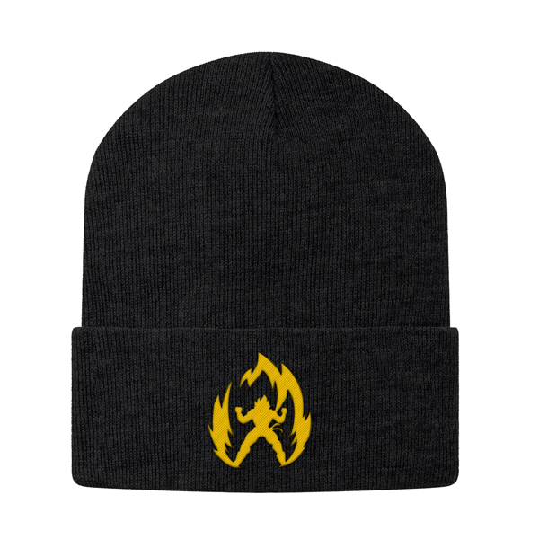 Super Saiyan Vegeta Gold Symbol Snapback Beanie - PF00291BN - The Tshirt Collection - 1