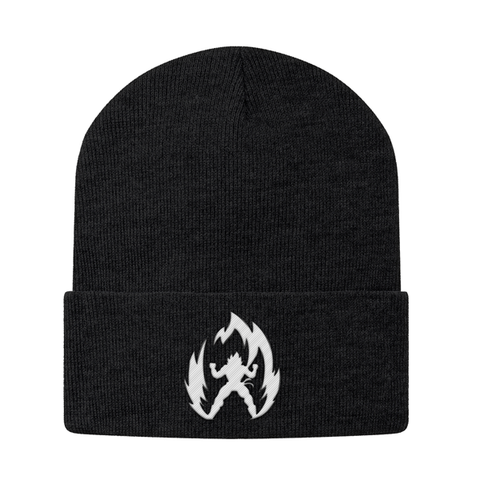 Super Saiyan Vegeta White Symbol Beanie - PF00310BN - The Tshirt Collection - 1
