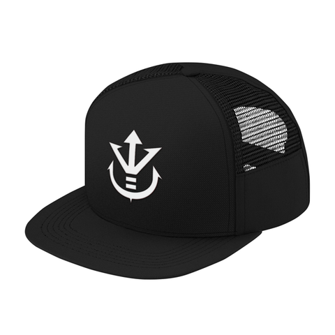 Super Saiyan White Vegeta Crest Trucker Hat - PF00198TH - The Tshirt Collection - 1