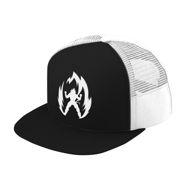 Super Saiyan Vegeta White Symbol Trucker Hat - PF00310TH - The Tshirt Collection - 1