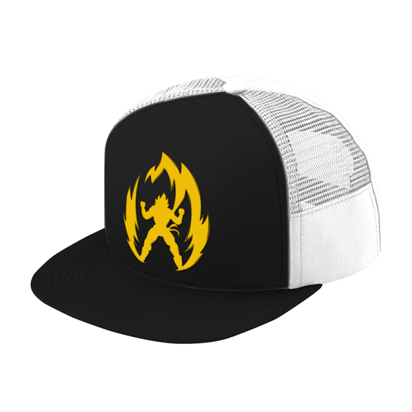 Super Saiyan Vegeta Gold Symbol Trucker Hat - PF00291TH - The Tshirt Collection - 1