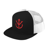 Super Saiyan Red Vegeta Crest Trucker Hat - PF00188TH - The Tshirt Collection - 1