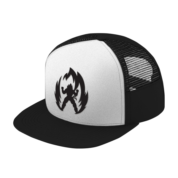 Super Saiyan Vegeta Black Symbol Trucker Hat - PF00311TH - The Tshirt Collection - 1