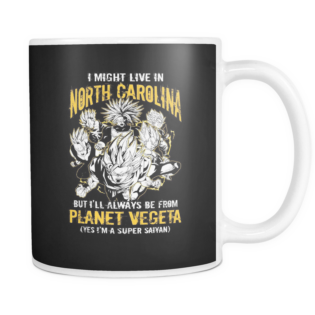 Super Saiyan I May Live in North Carolina 11oz Coffee Mug - TL00075M1