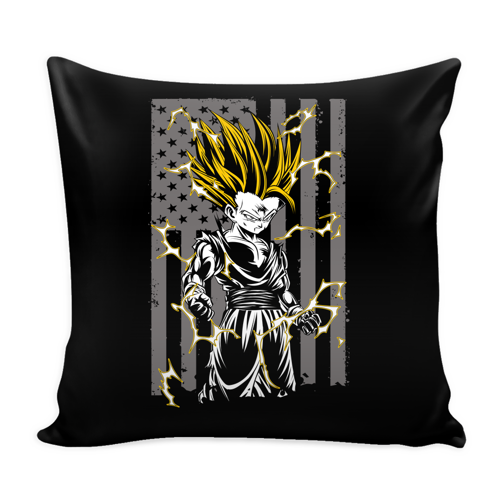 American Super Saiyan Gohan Pillow Cover 16'' - TL00003PL - The TShirt Collection