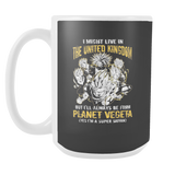 Super Saiyan I May Live in The UK 15oz Coffee Mug - TL00111M5