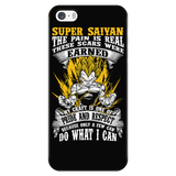 Super Saiyan Vegeta Warrior iPhone 5, 5s, 6, 6s, 6 plus, 6s plus phone case - TL00120PC-BLACK