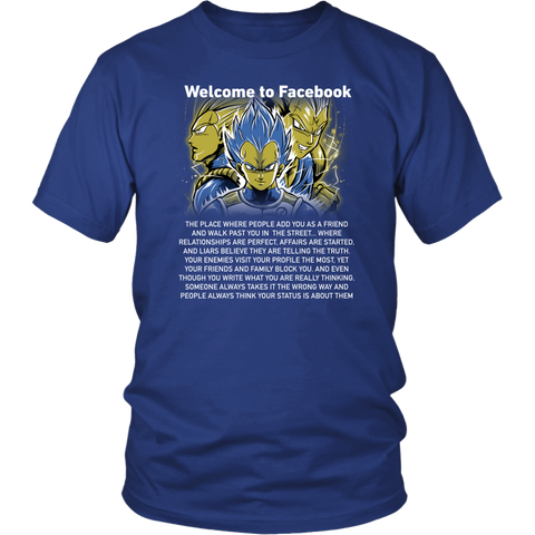 Super saiyan vegeta shirt - Welcome to Facebook - Unisex Shirts - TL01611SS