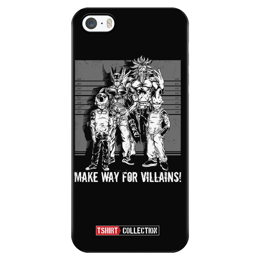 Super Saiyan Villains iPhone 5, 5s, 6, 6s, 6 plus, 6s plus phone case - TL00055PC-BLACK