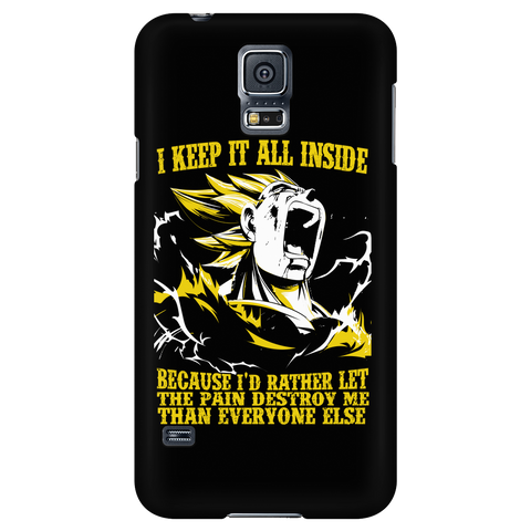 Super Saiyan - Vegeta i keep it all inside because i'd rather let the pain destroy me - Android Phone Case - TL01223AD