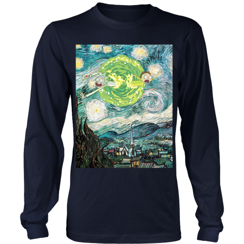 Rick And Morty - Van gogh - Unisex Long Sleeve T Shirt - TL01461LS