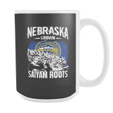 Super Saiyan Nebraska Grown Saiyan Roots 15oz Coffee Mug- TL00166M5