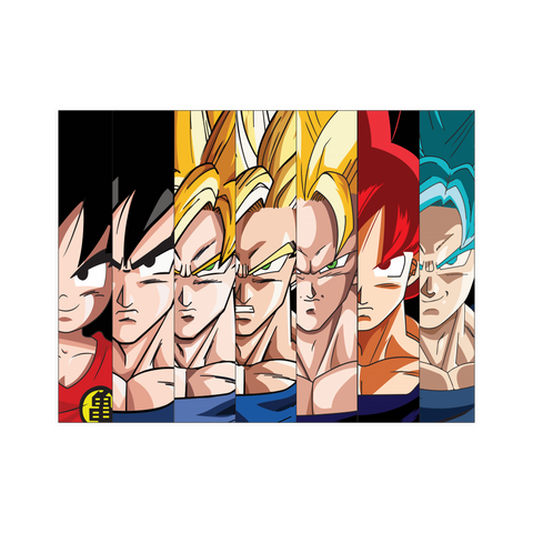 Super saiyan Goku Transformation Evolution Poster 18x24 - TL01481PO