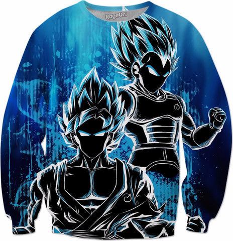 SSj God Blue - All Over Print Sweatshirt - TL00950AS